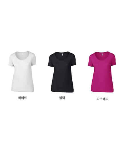 [ANVIL] 여성 경량 라운드티(110g) 반팔 /US FIT